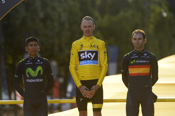 General Classification podium