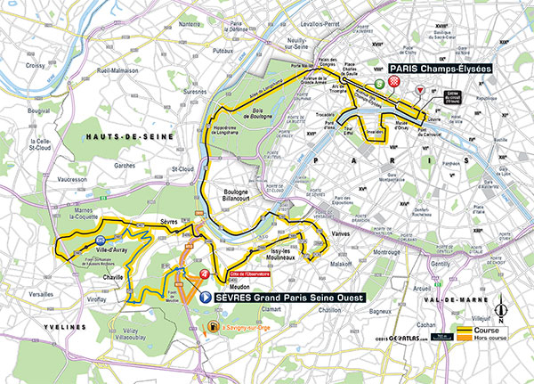 2015 Tour de France stage 21 map