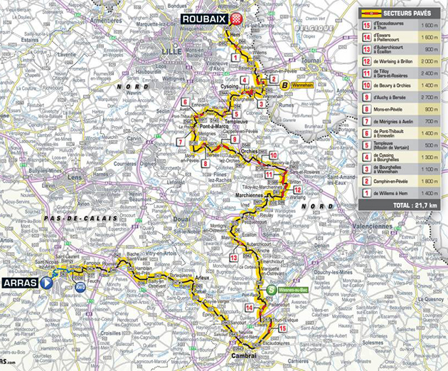 2018 Tour de France stage 9 map
