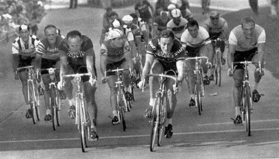 Willy Vannitsen wins a stage in the 1962 Tour de France