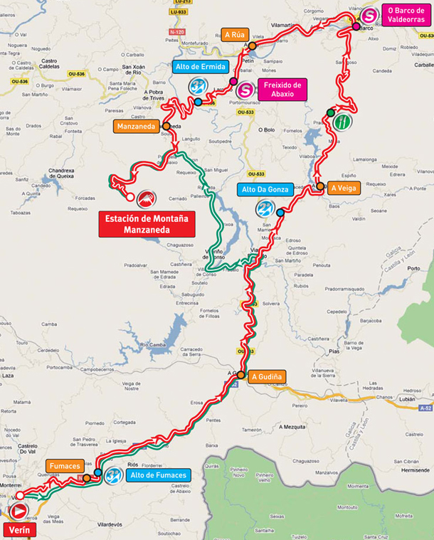 Stage 11 route map