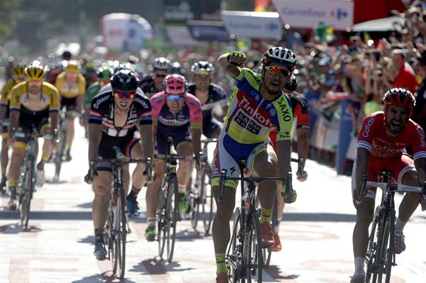 Peter Sagan wins Vuelta stage 3