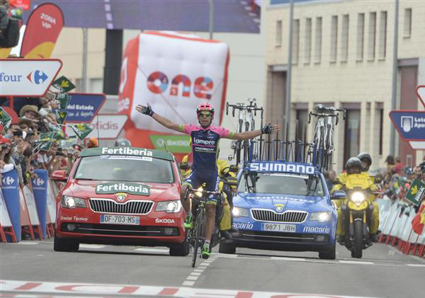 Nelson OPliveira wins Vuelta stage 13