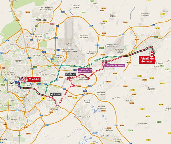 Vuelta stage 21 map