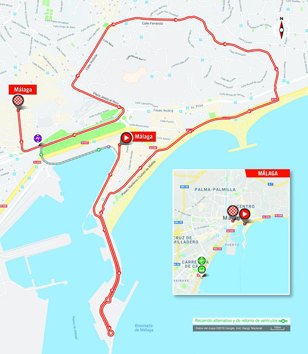 Vuelta a Espana stage 1 map